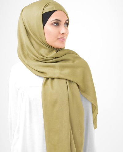 Olive Oil Viscose Woven Scarf Regular Olive Oil