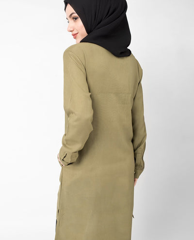 Olive Stitch Tunic Slim