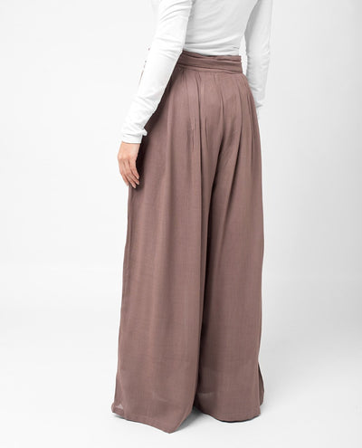 Pastel Wide Trousers Slim Petite (W28 L28) Dusty Mauve