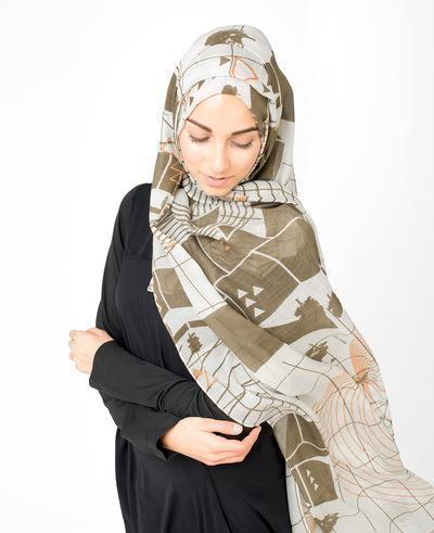 Pine Bark Hijab Medium