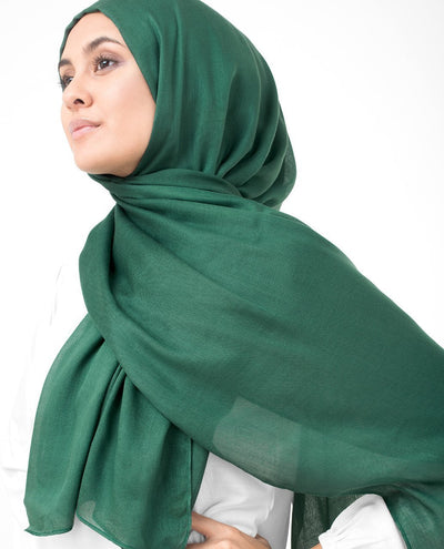 Pineneedle Green Viscose Woven Hijab Regular