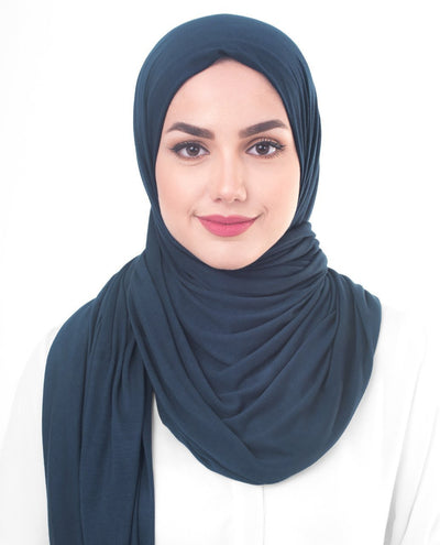 Poseidon Viscose Jersey Hijab Medium Poseidon Color