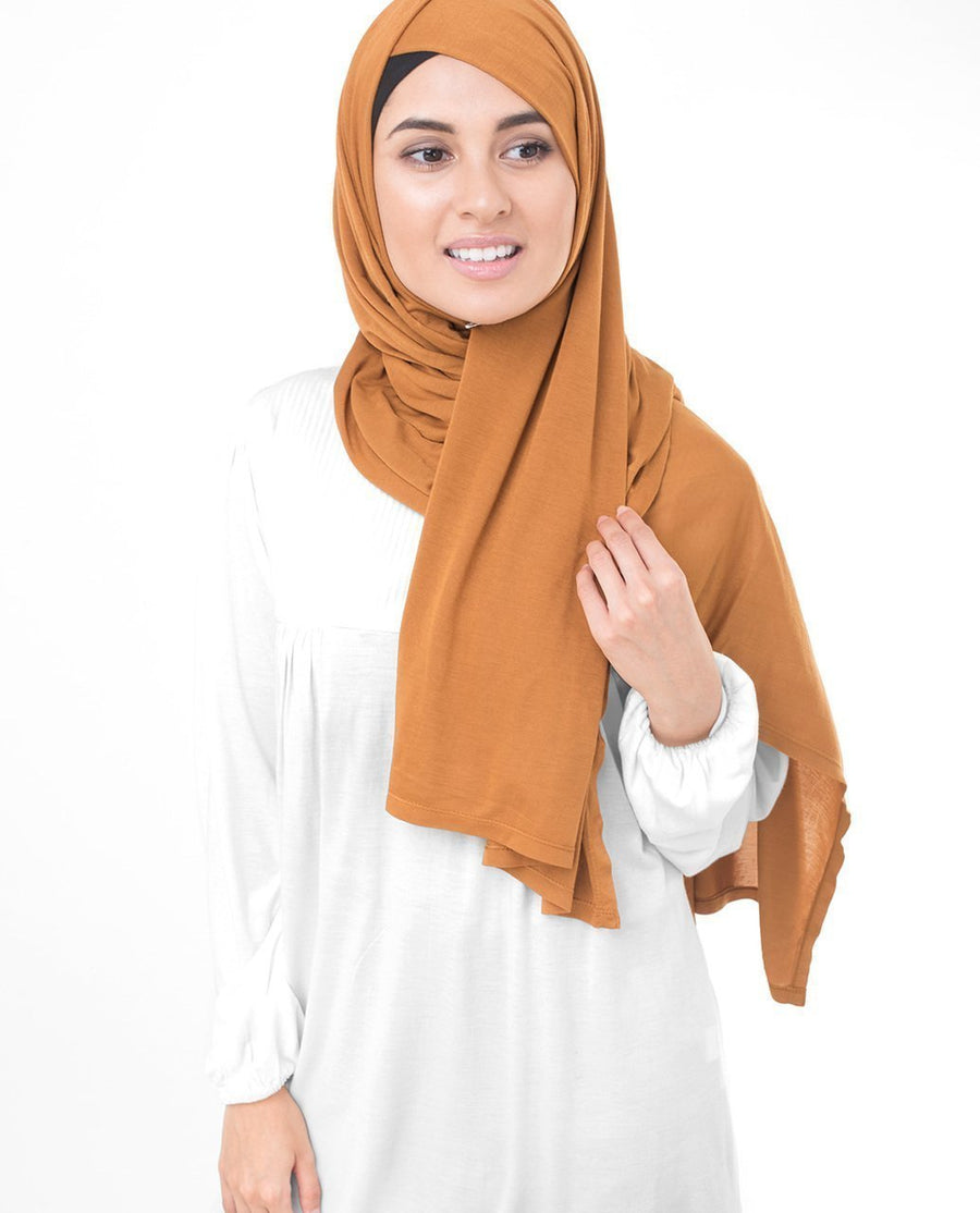 Pumpkin Spice Brown Viscose Jersey Hijab Regular Pumpkin Spice