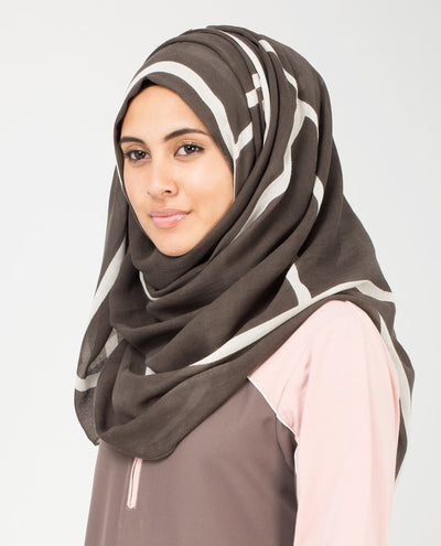 Rabbit and White Hijab Regular Brown