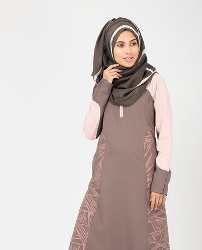 Rabbit and White Hijab Maxi Brown