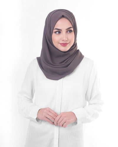 Rabbit Poly Georgette Hijab Regular Coffee
