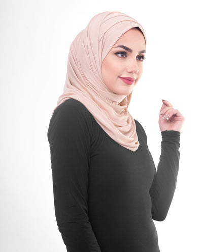 Rose Dust Viscose Jersey Hijab Regular