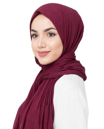 Rumba Red Viscose Jersey Hijab Medium Rumba Red
