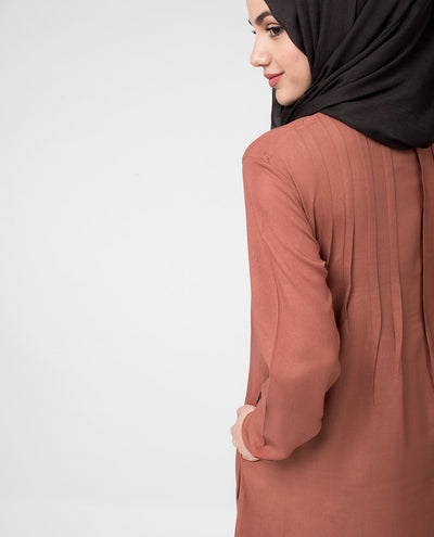 Rust Brown Drape top Slim