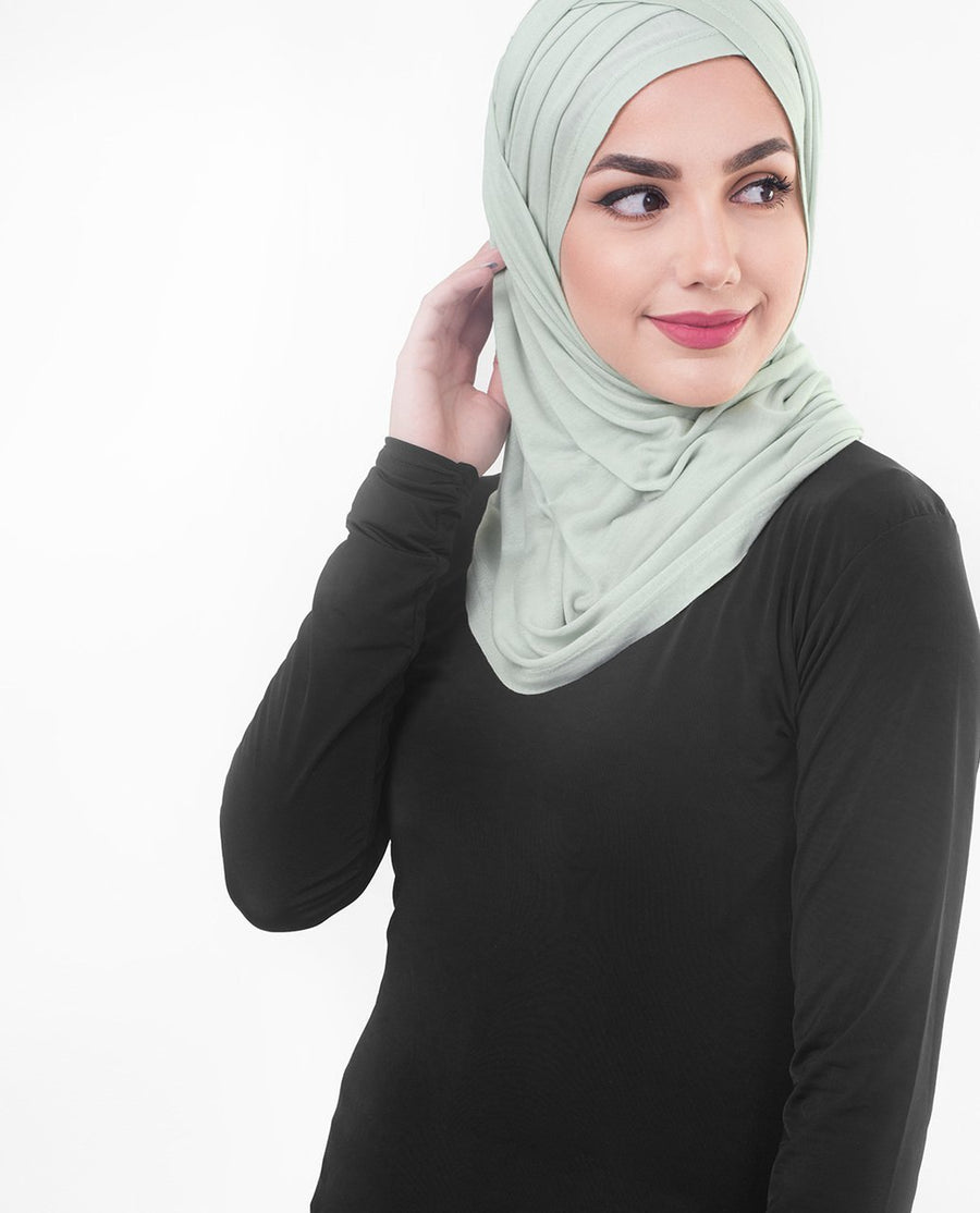 Sea Foam Jersey Hijab