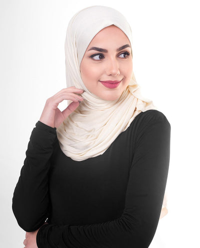 Sheer Pink Viscose Jersey Hijab Regular