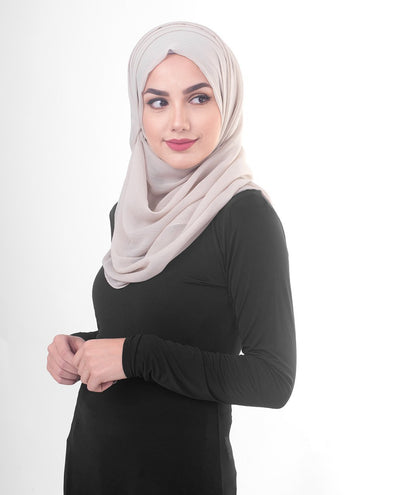 Silver Cloud Poly Chiffon Hijab M Silver Cloud