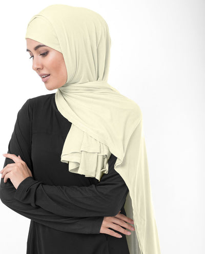 Turtledove Beige Viscose Jersey Hijab Medium Turtledove Beige
