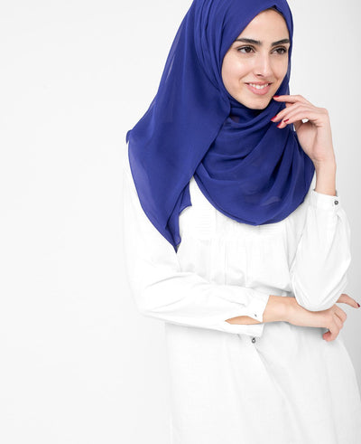 Twilight Blue PolyChiffon Scarf Regular