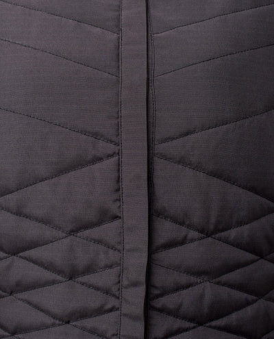 Unique Quilted Button Front Black Abaya Jilbab S 54 Black
