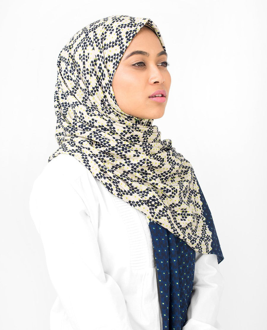 Versatile 2-In-1 Viscose Jersey Hijab Large Navy