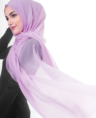 Violet Tulle Poly Chiffon Scarf Medium