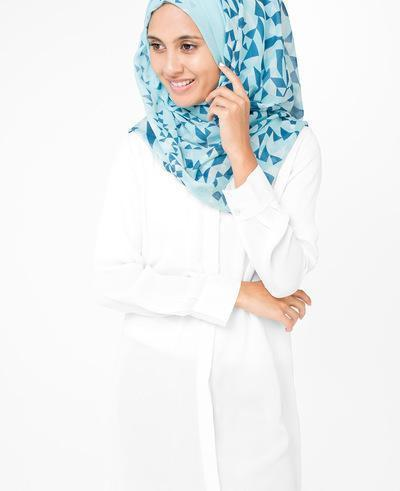 White Plume Hijab Regular