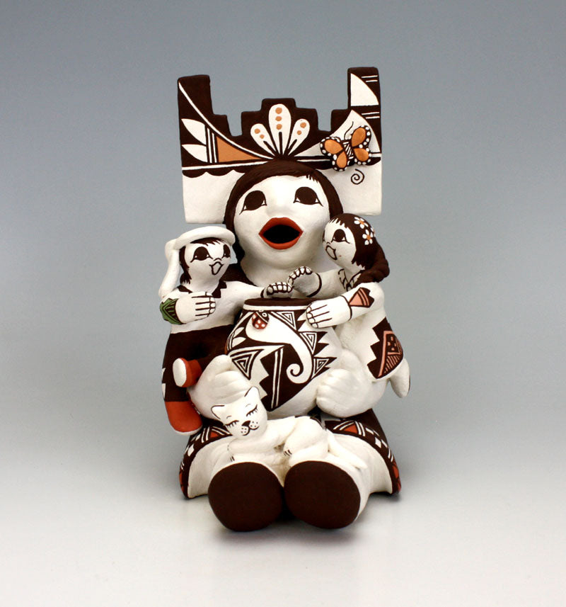 Acoma Pueblo Native American Indian Pottery Storyteller #1 - Marilyn Ray