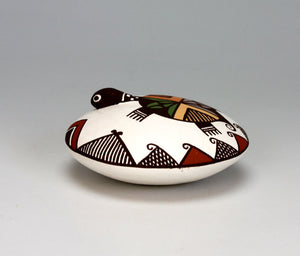 Acoma Pueblo Native American Pottery Turtle Seed Pot - Marilyn Ray