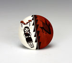 Acoma Pueblo Native American Indian Pottery Seed Pot - Judy Lewis