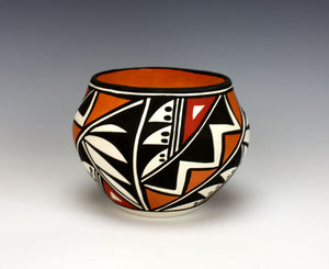 Acoma Pueblo Native American Indian Pottery Small Olla #2 - Loretta Joe