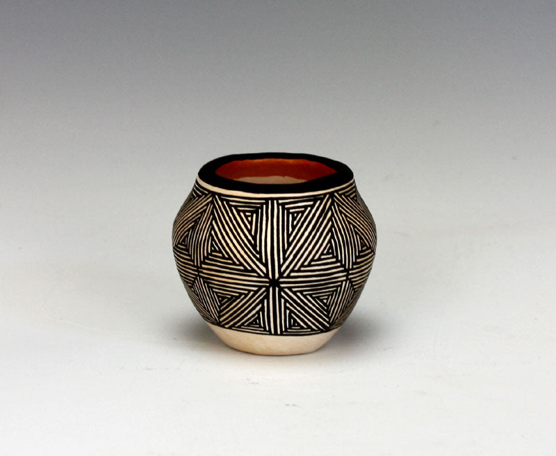 Acoma Pueblo Native American Indian Pottery Mini Olla - Lawrence Joe