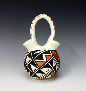 Acoma Pueblo Native American Indian Pottery Wedding Vase #1 - Loretta Joe