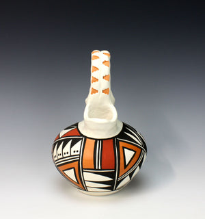 Acoma Pueblo Native American Indian Pottery Wedding Vase #2 - Loretta Joe