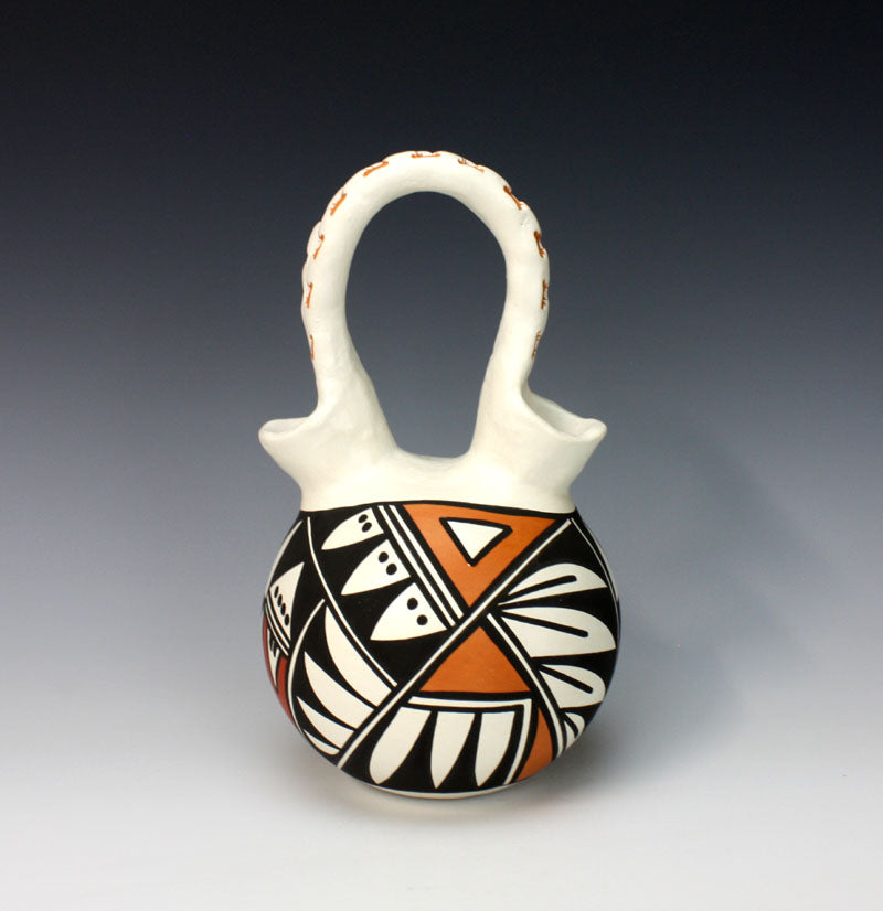 Acoma Pueblo Native American Indian Pottery Wedding Vase #3 - Loretta Joe