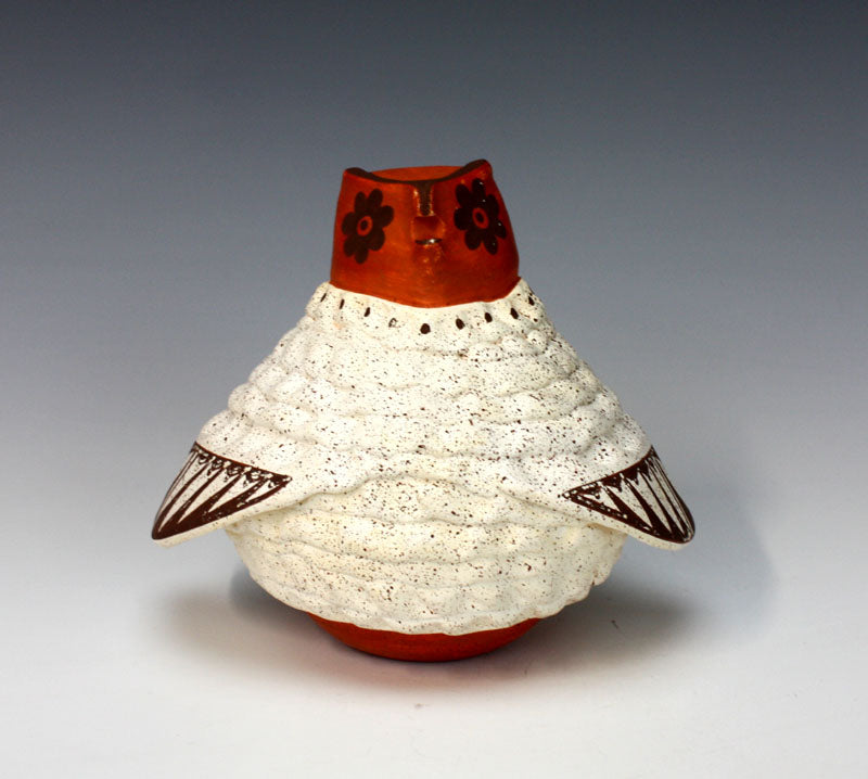 Acoma Pueblo Native American Indian Pottery Owl - Flo & Lee Vallo
