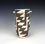 Acoma Pueblo Native American Pottery Chaco Cylinder Jar #1 - Flo & Lee Vallo