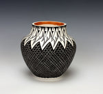 Acoma Pueblo Native American Indian Pottery Lightning Jar - Melissa C. Antonio