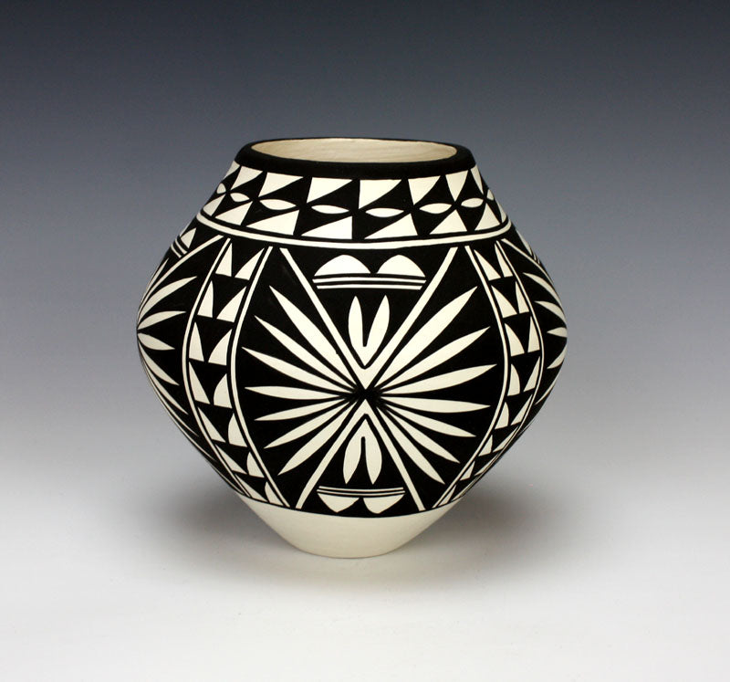 Acoma Pueblo Native American Pottery Butterfly Jar - Katherine Victorino