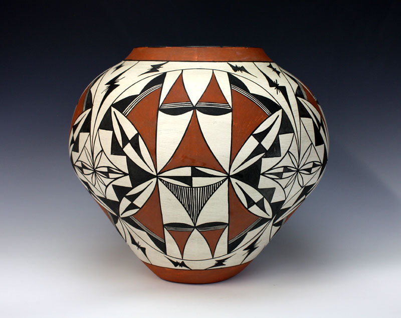 Acoma Pueblo Native American Pottery HUGE Olla - Unknown Artist