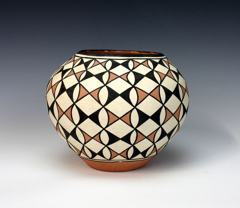 Acoma Pueblo Native American Pottery Butterfly Olla - Unknown Artist