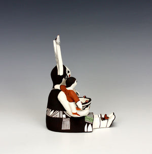 Acoma Pueblo Native American Indian Pottery Storyteller #2 - Judy Lewis