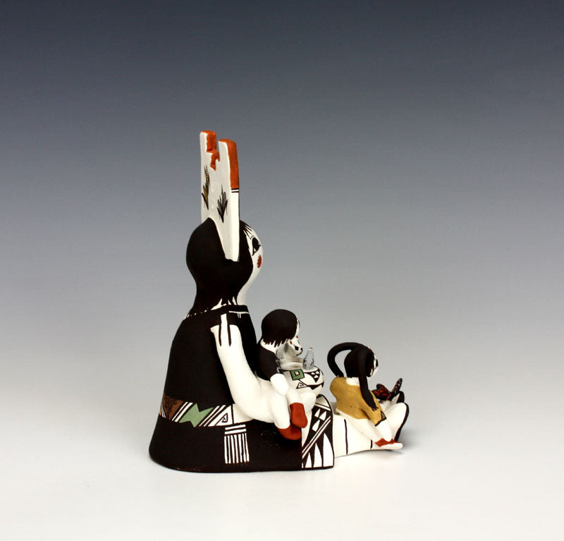 Acoma Pueblo Native American Indian Pottery Storyteller #3 - Judy Lewis
