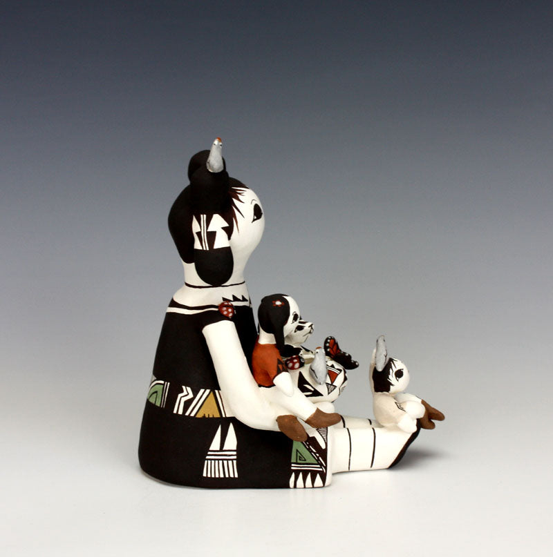 Acoma Pueblo Native American Indian Pottery Storyteller #6 - Judy Lewis