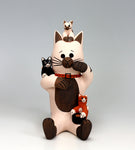 Cochiti Pueblo Native American Indian Pottery Cat Storyteller - Dorothy Herrera