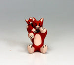 Cochiti Pueblo Native American Pottery Mini Cat Storyteller - Dorothy Herrera