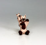 Cochiti Pueblo Native American Pottery Mini Cat Storyteller #1 - Dorothy Herrera