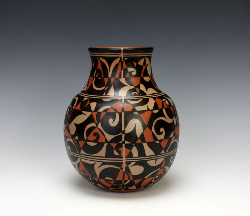 Cochiti - Kewa Pueblo Native American Indian Pottery Jar - Lisa Holt - Harlan Reano