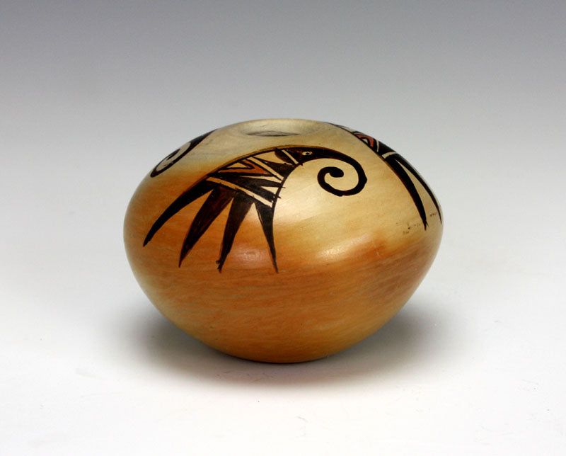 Hopi American Indian Pottery Small 3 Bird Seed Jar - Adelle Nampeyo