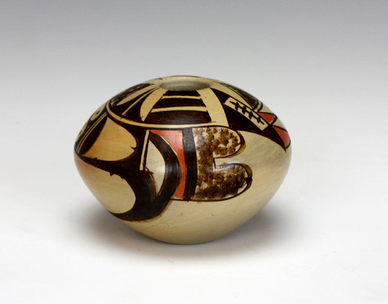 Hopi American Indian Pottery Small Eagle Tail Seed Jar #1 - Adelle Nampeyo
