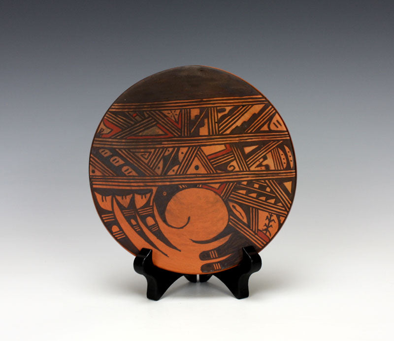 Hopi Native American Indian Pottery Bird Plate - Louden Silas