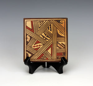 Hopi Native American Indian Pottery Square Tile - Louden Silas