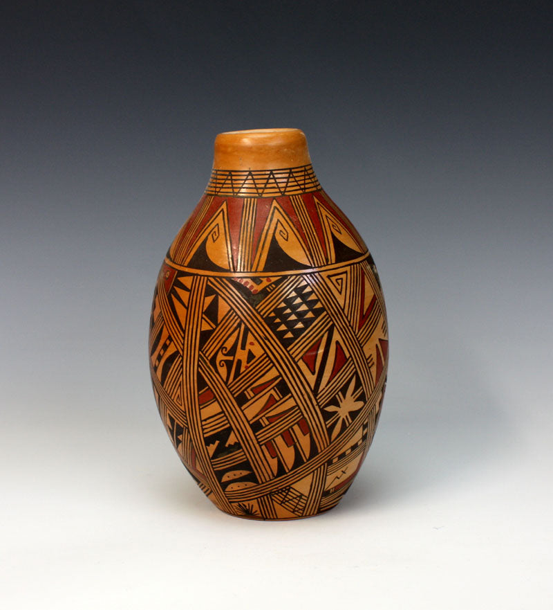 Hopi Native American Indian Pottery Jar - Louden Silas