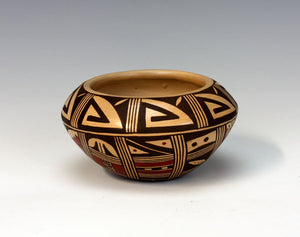 Hopi Native American Indian Pottery Prayer for Rain Bowl - Louden Silas