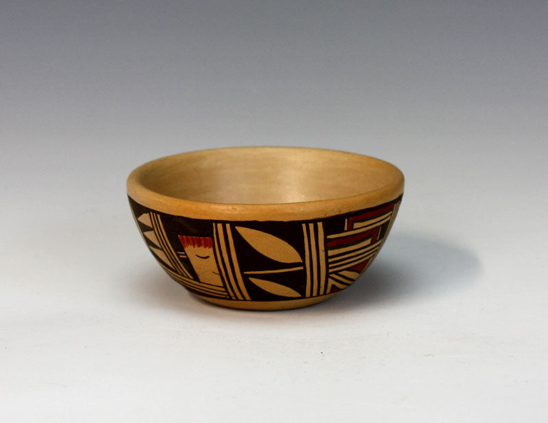 Hopi Native American Indian Pottery Miniature Bowl - Louden Silas